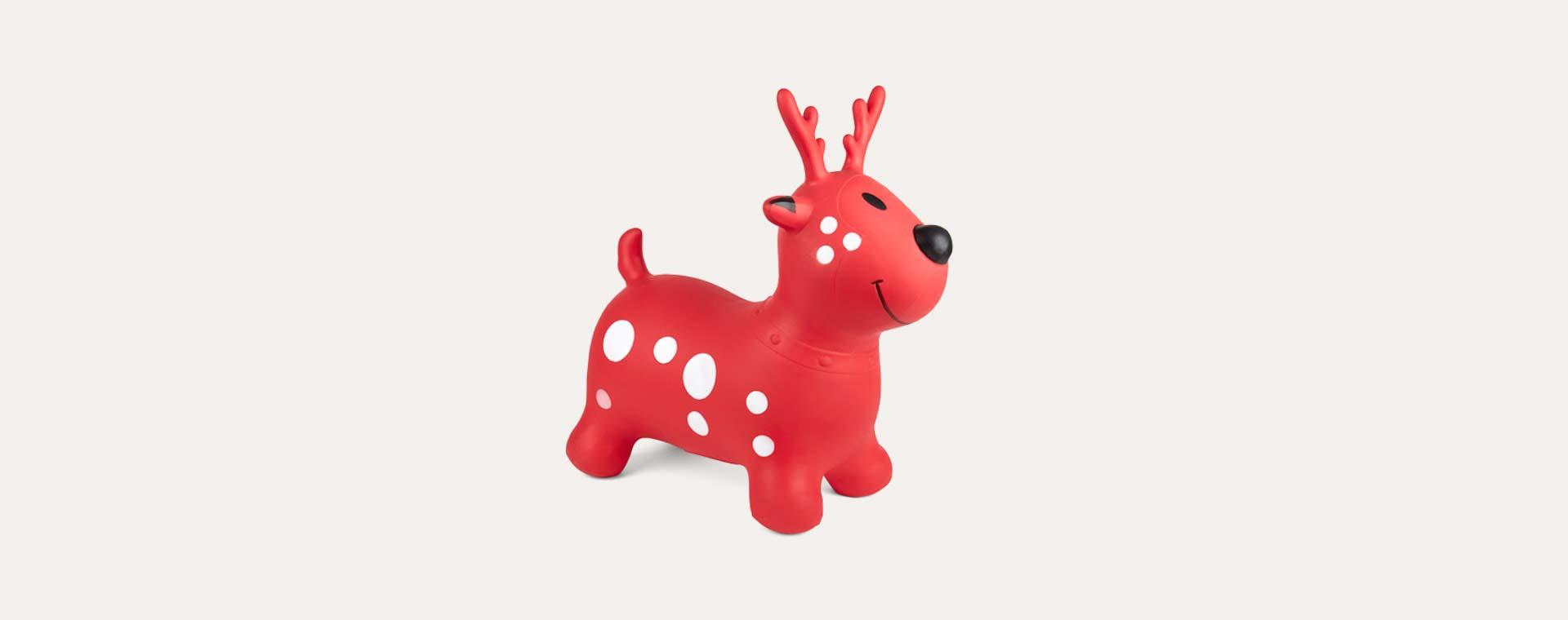 Red Happy Hopperz Deer Happy Hopper