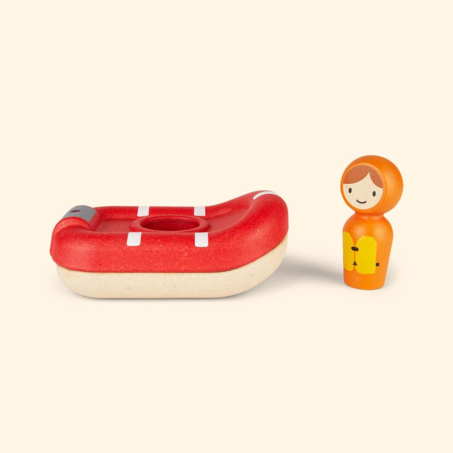 Red Plan Toys Coastguard Boat