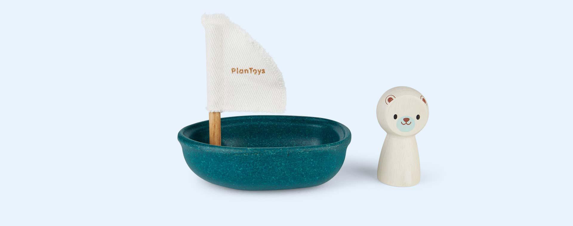 Polar Bear Plan Toys Sailing Boat