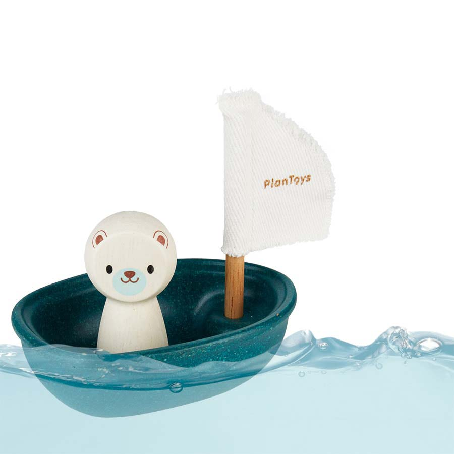 Polar Bear Plan Toys Sailing Boat