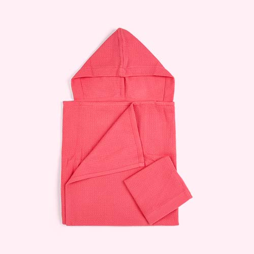 Flamingo EKOBO Baby Hooded Towel and Wash Cloth Set