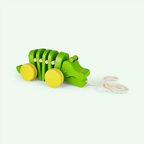 Green Plan Toys Pull Along Dancing Alligator