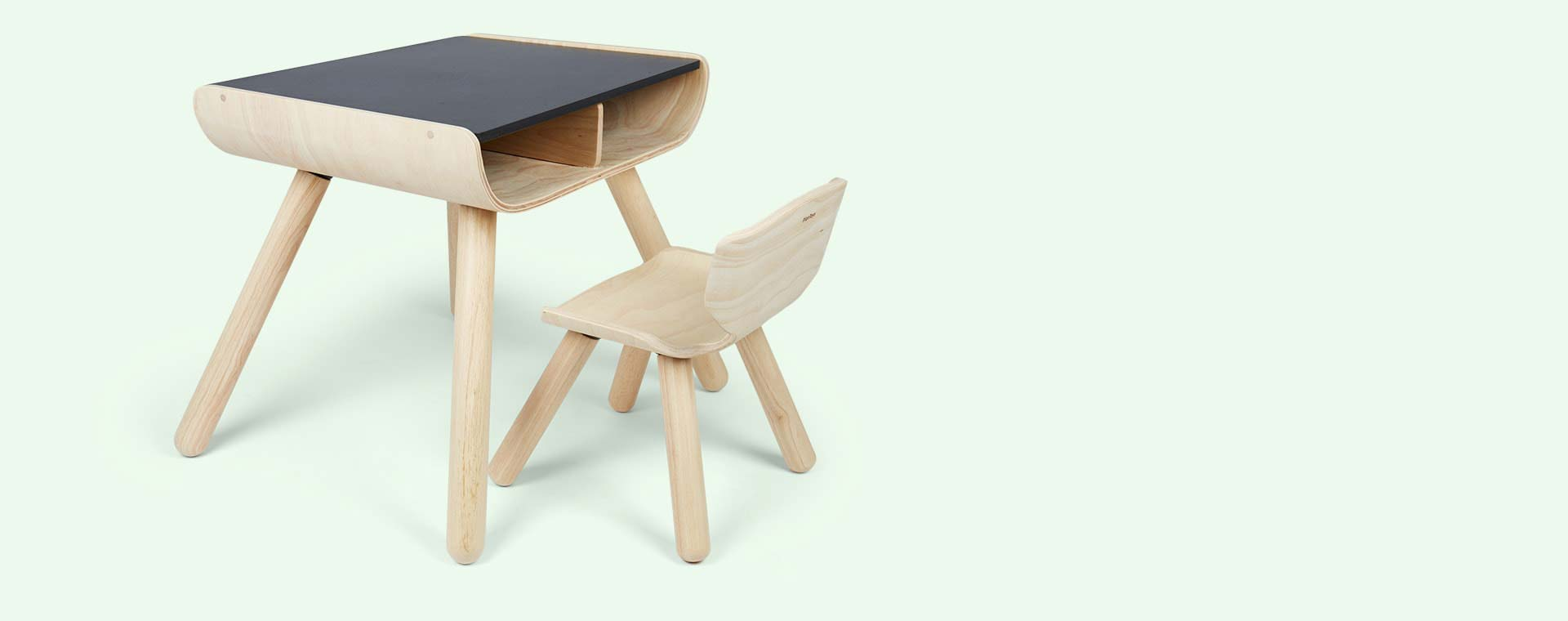 Black Plan Toys Table Chair