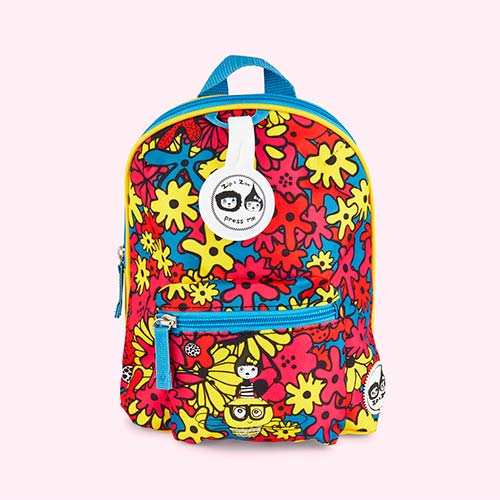 Floral Brights Babymel Mini Kids Backpack with Rein