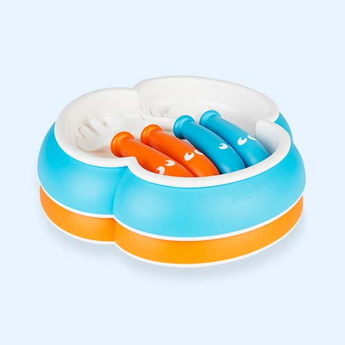Orange Turquoise BabyBjorn Feeding Set