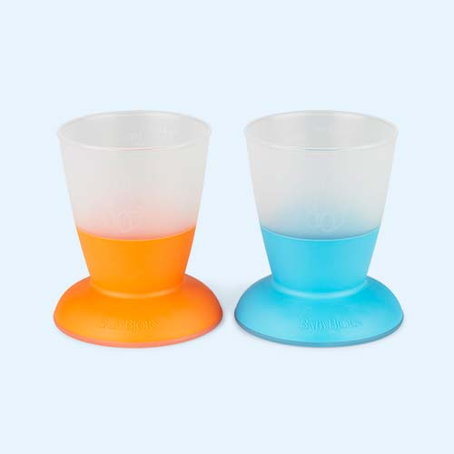 Orange Turquoise BabyBjorn Baby cup - 2 Pack