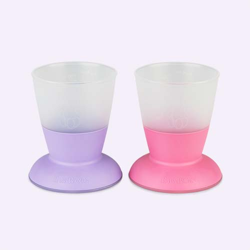Pink Purple BabyBjorn Baby cup - 2 Pack