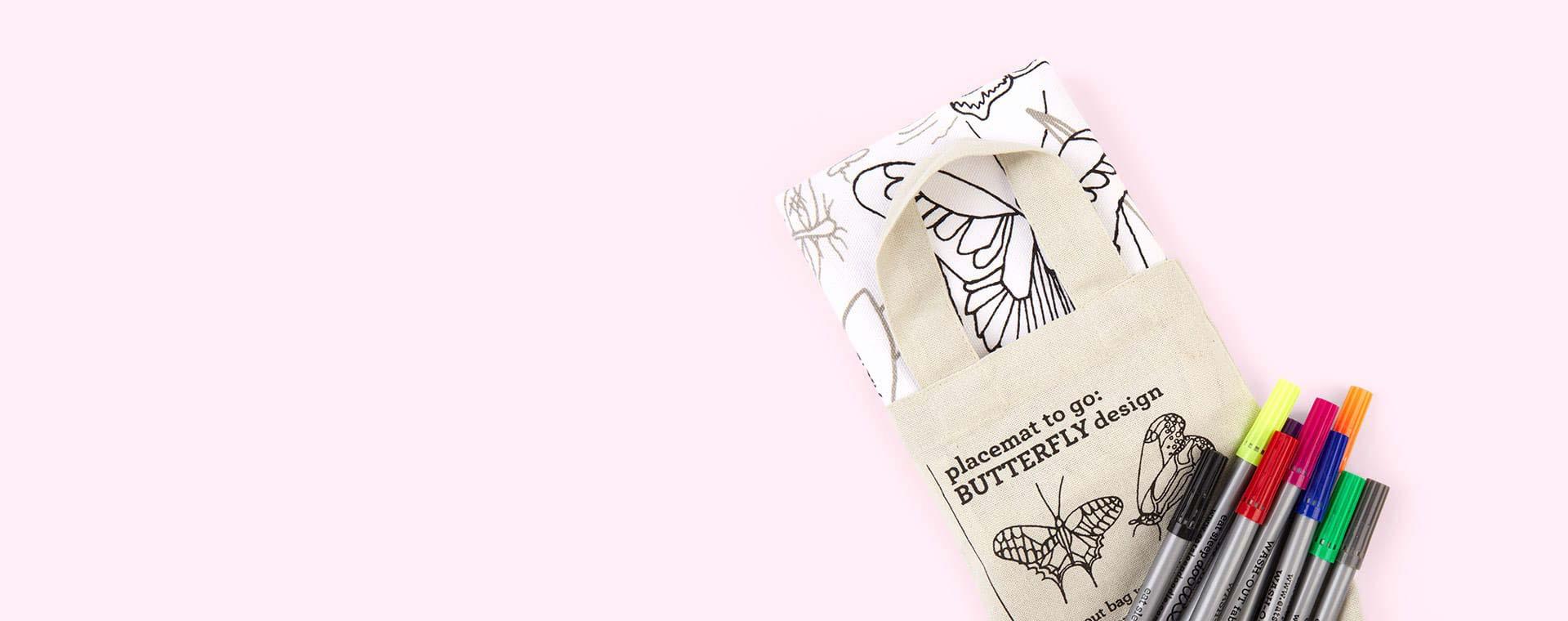 Butterflies Eat Sleep Doodle Doodle Placemat to Go