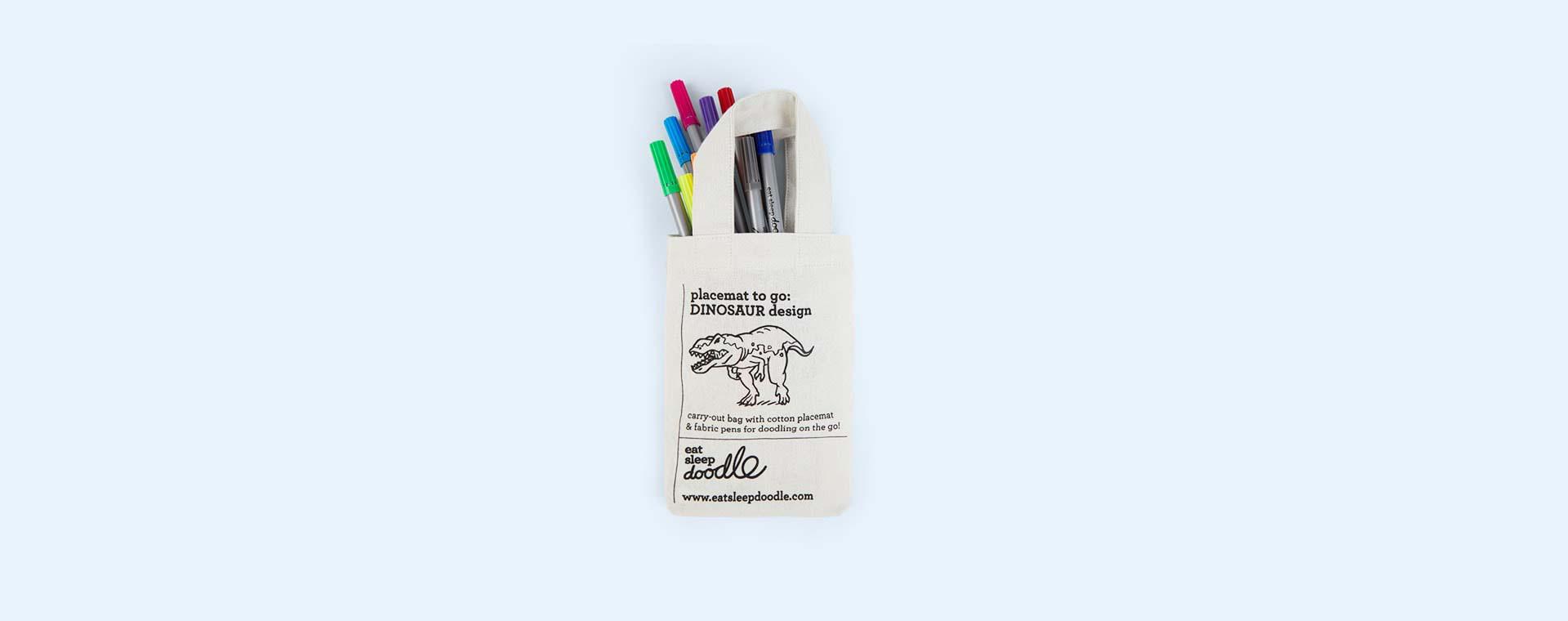 Dinosaur Eat Sleep Doodle Doodle Placemat to Go