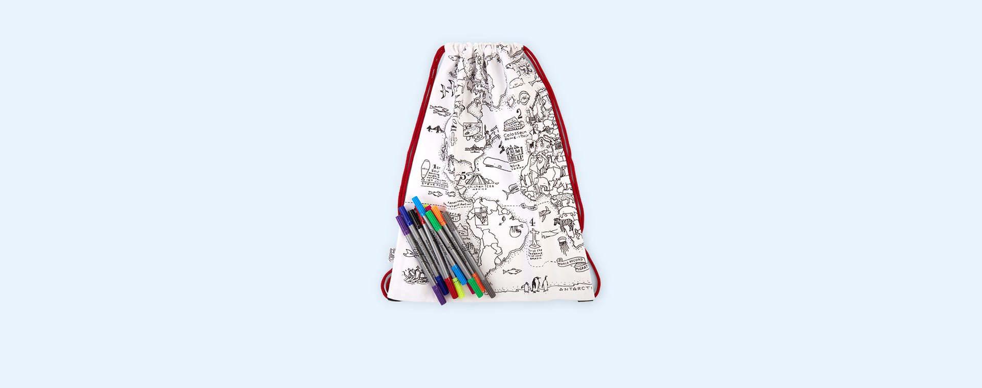 Map Eat Sleep Doodle Doodle Backpack