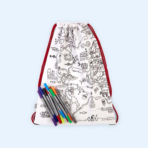 Map Eat Sleep Doodle Doodle Backpack