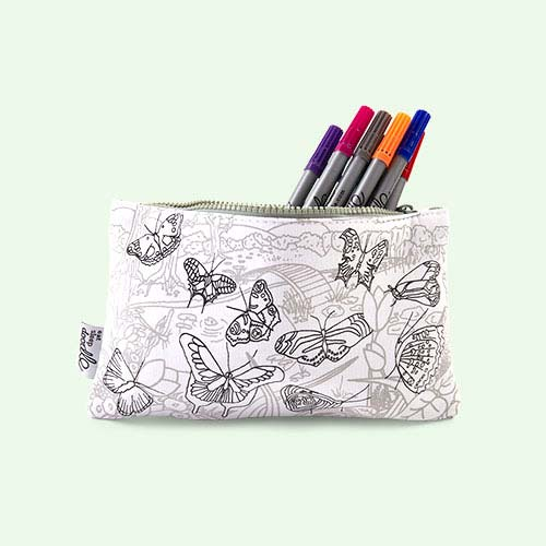 Butterflies Eat Sleep Doodle Doodle Pencil Case