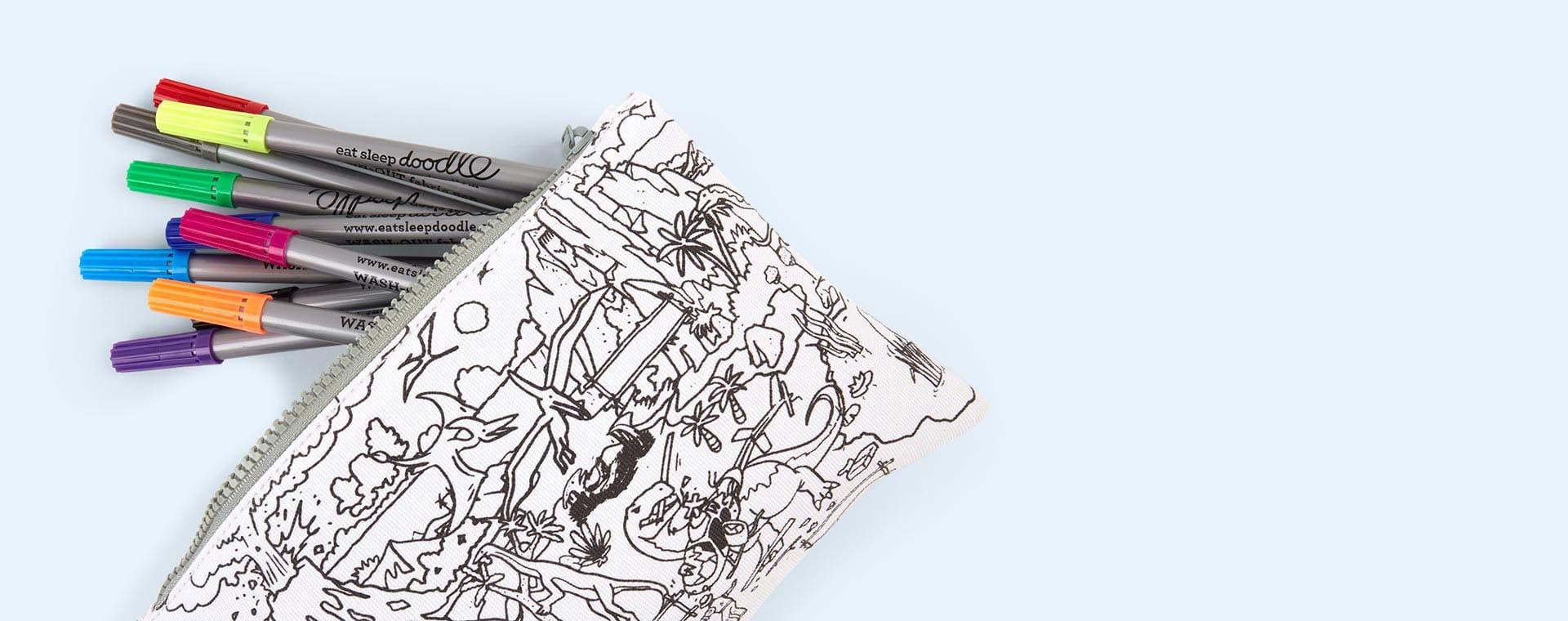Dinosaurs Eat Sleep Doodle Doodle Pencil Case