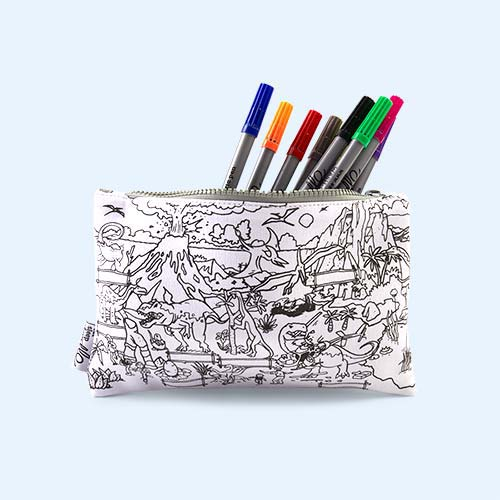 Dinosaurs Eat Sleep Doodle Doodle Pencil Case