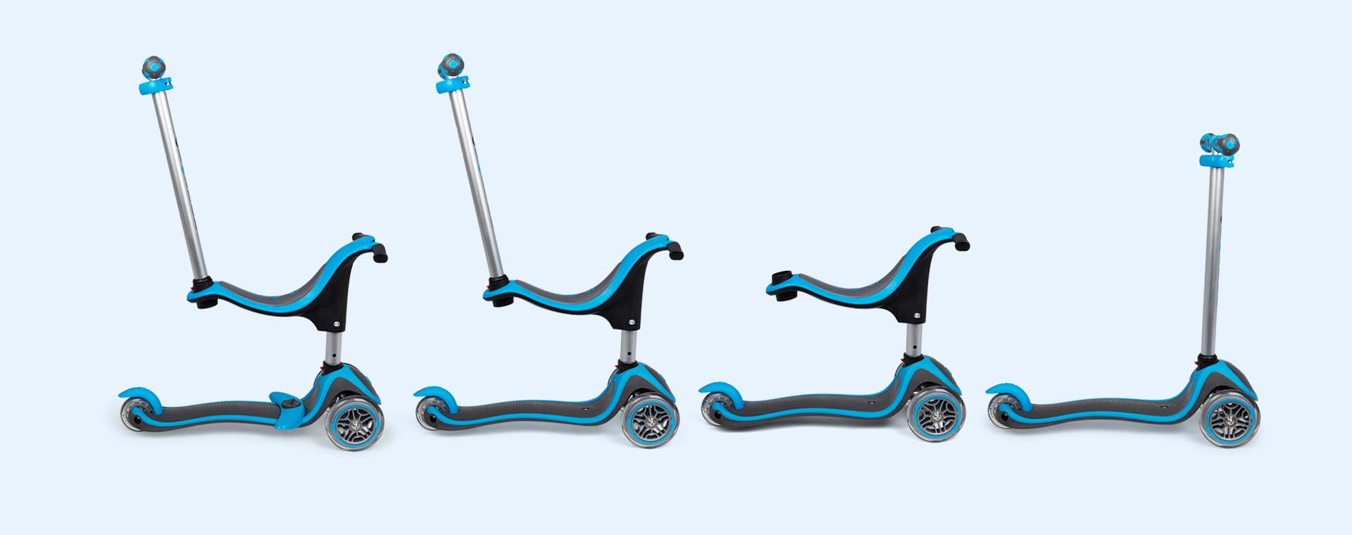 buy the globber evo 4 in 1 plus scooter tried tested by. Black Bedroom Furniture Sets. Home Design Ideas