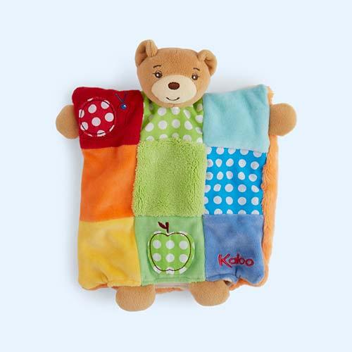 Multi Kaloo Patchwork Bear Puppet Comforter Toy