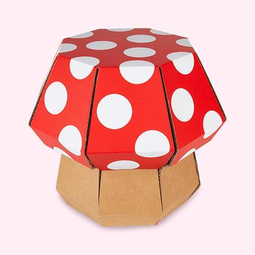 Red Funny Paper Mushroom Stool