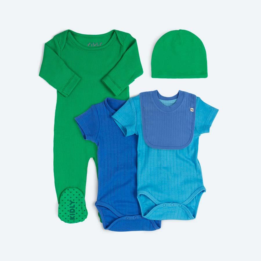 Blue KIDLY 5 Piece Gift Set