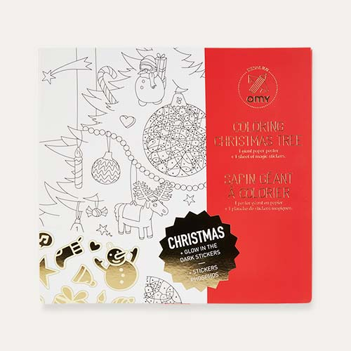 White OMY DESIGN & PLAY Colouring Christmas Poster