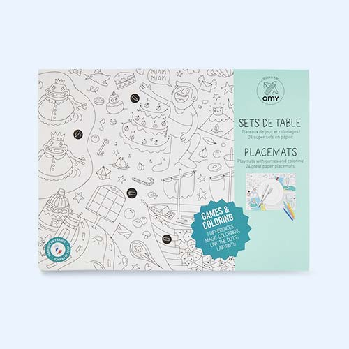 Games OMY DESIGN & PLAY Colouring Paper Placemats
