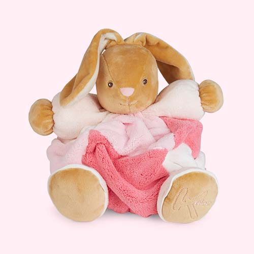Pink Kaloo Large Patchwork Chubby Rabbit
