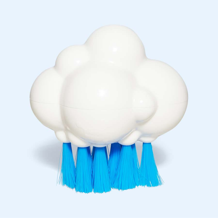 White Moluk Plui Brush Cloudy