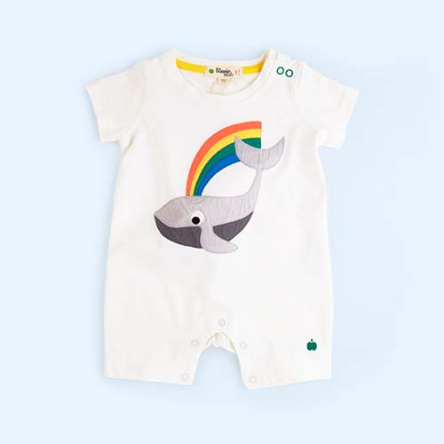 Cream Rainbow The Bonnie Mob Moby Rainbow Whale Playsuit