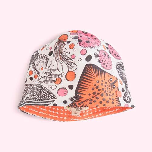 Underwater Pink Orange The Bonnie Mob Snook Underwater Print Reversible Beanie