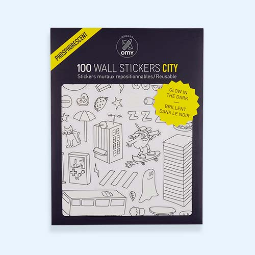 City OMY DESIGN & PLAY Glow in the Dark Wall Stickers