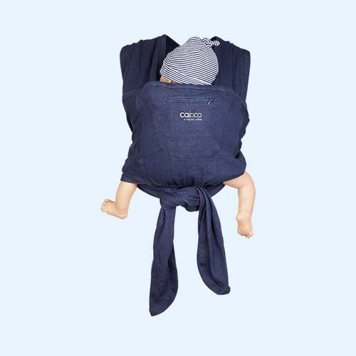 Indigo Close Caboo Organic Baby Carrier