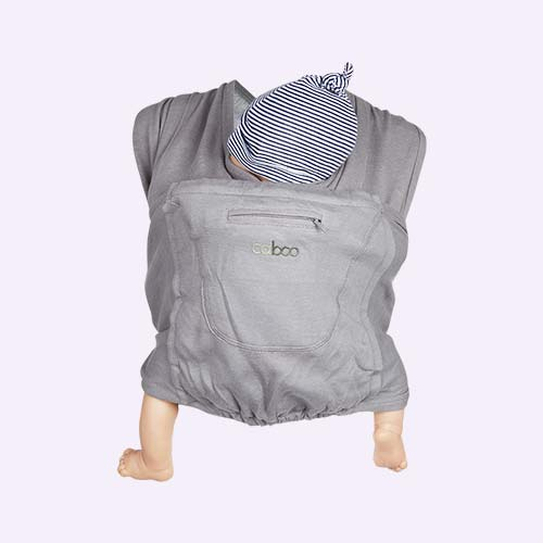 Steel Marl Close Caboo Organic Baby Carrier