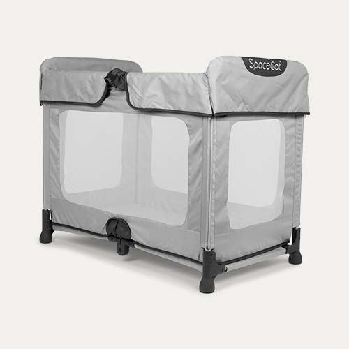 Grey SpaceCot Travel Cot