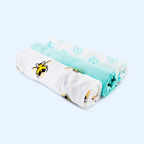 Bumble Bambino Mio Muslins - 3 Pack