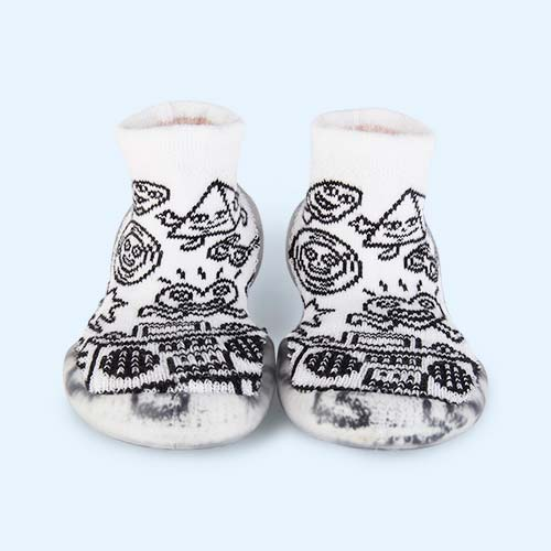 White Collegien Colour-In Slipper Socks