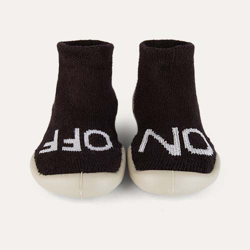 Black Collegien On Off Glow In The Dark Slipper Socks