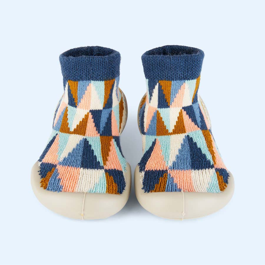 Multi Collegien Geometric Slipper Socks