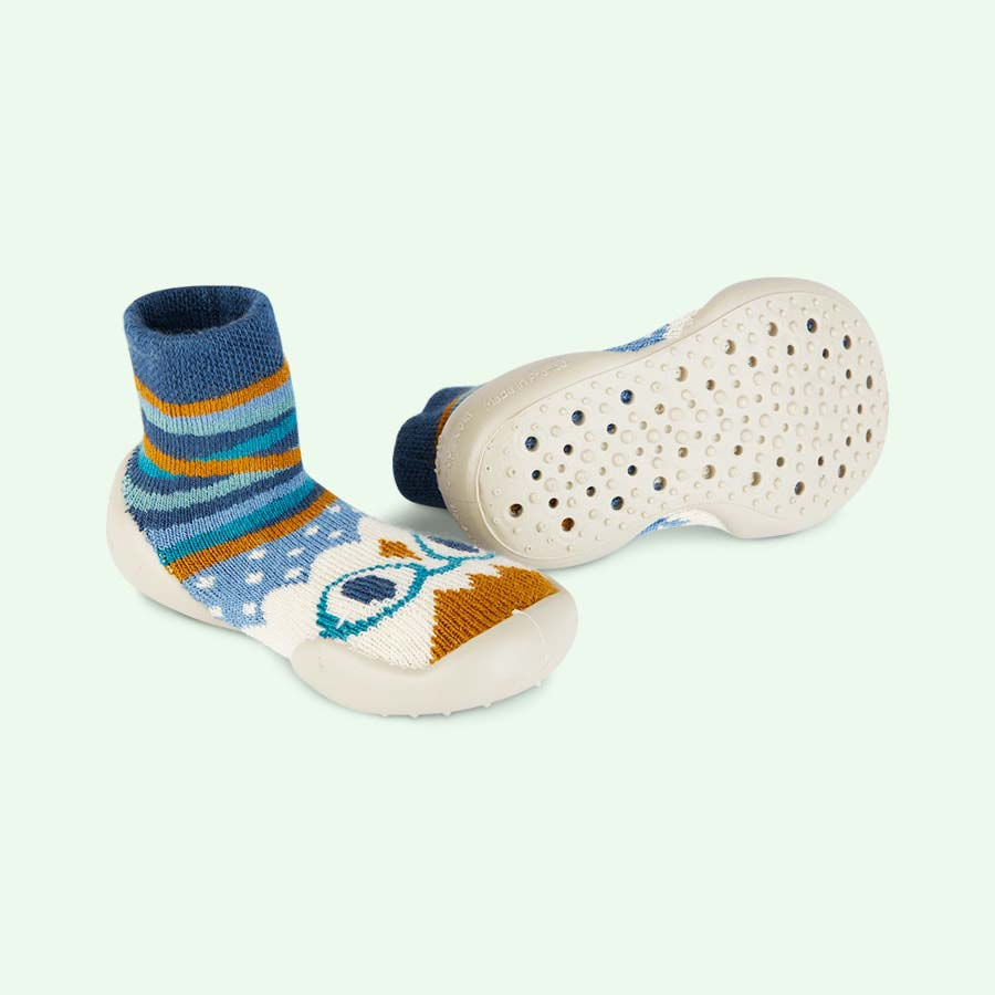 Blue Collegien Hiboux Slipper Socks