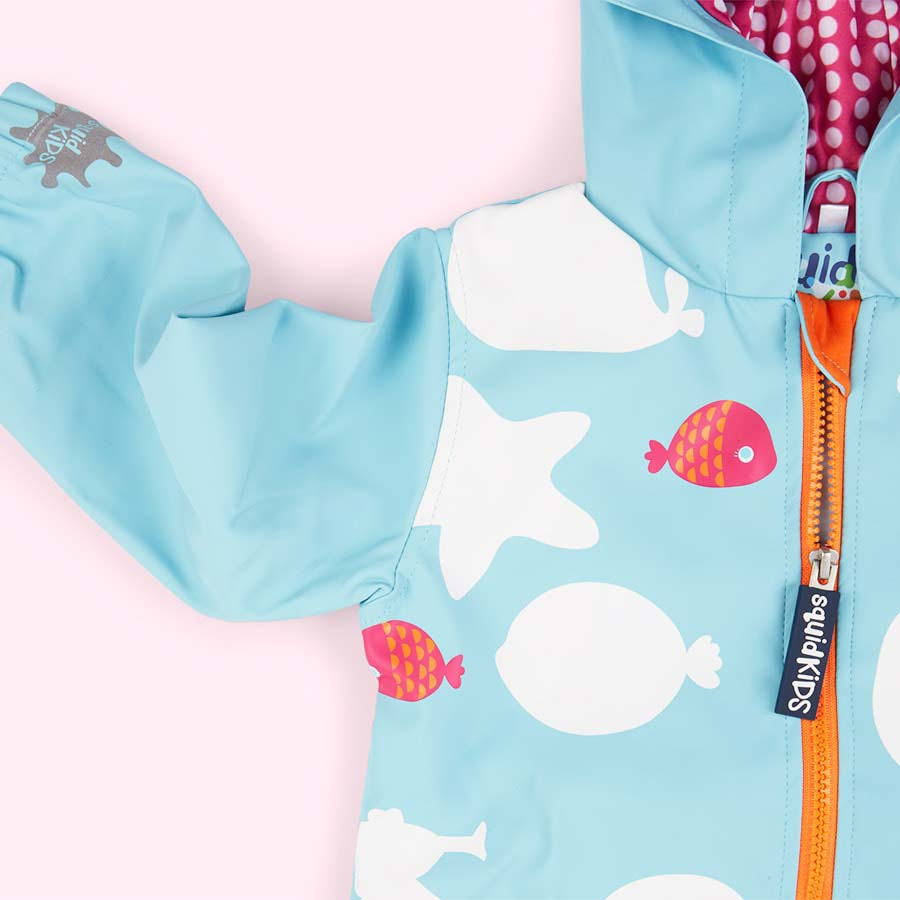 Star Fish SquidKids Colour Changing Raincoat