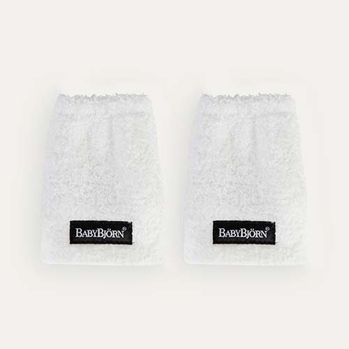 White BabyBjorn Carrier Teething Pads