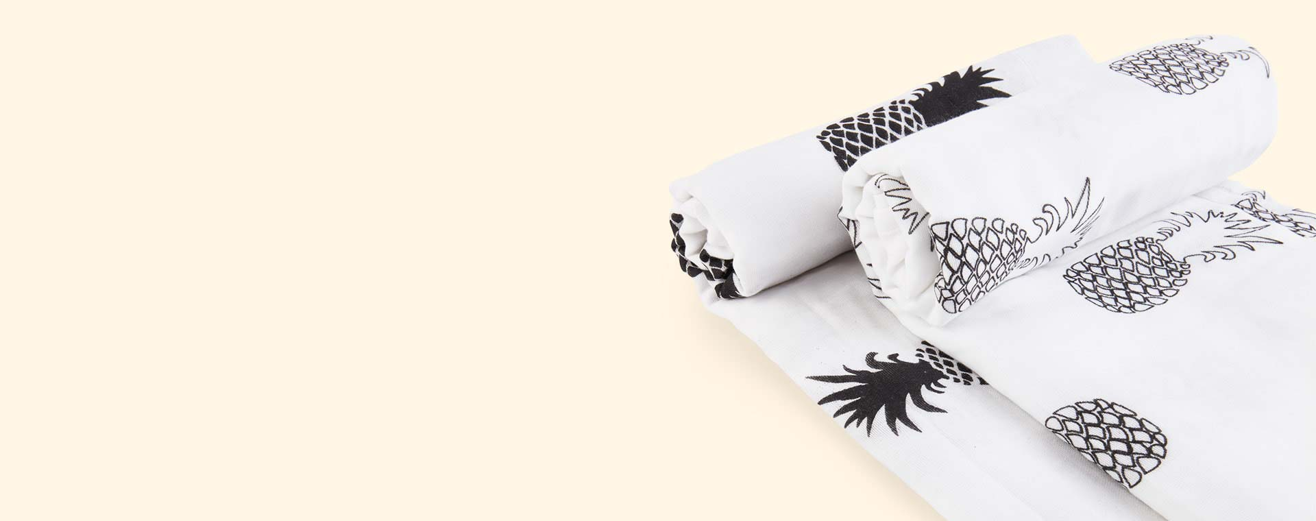 Monochrome Pineapple Mama Designs Muslin Swaddle - 2 Pack