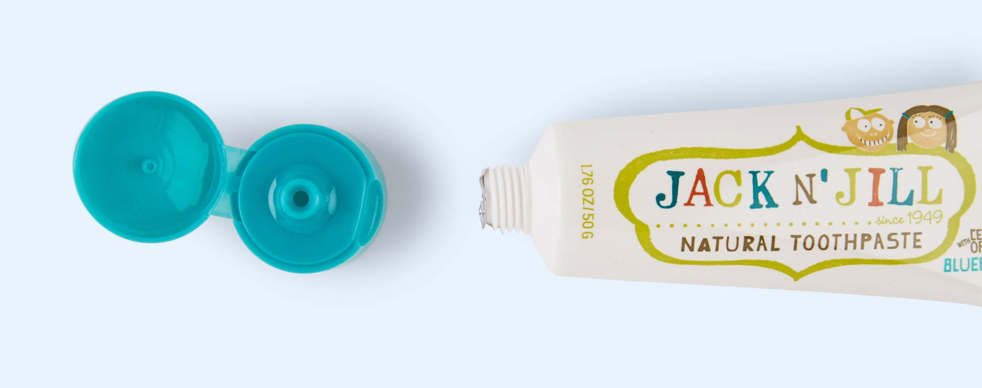 Blueberry JACK N' JILL Organic Flavoured Toothpaste