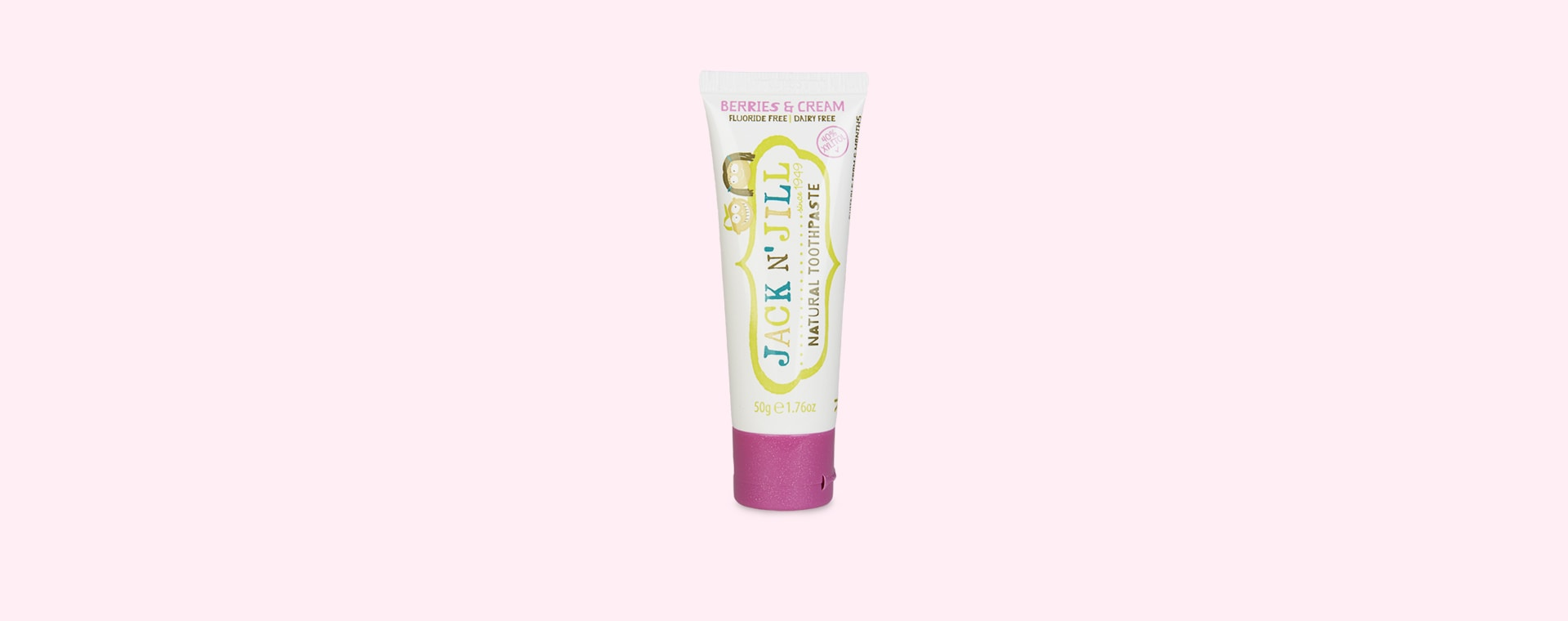 Berries & Cream JACK N' JILL Organic Flavoured Toothpaste