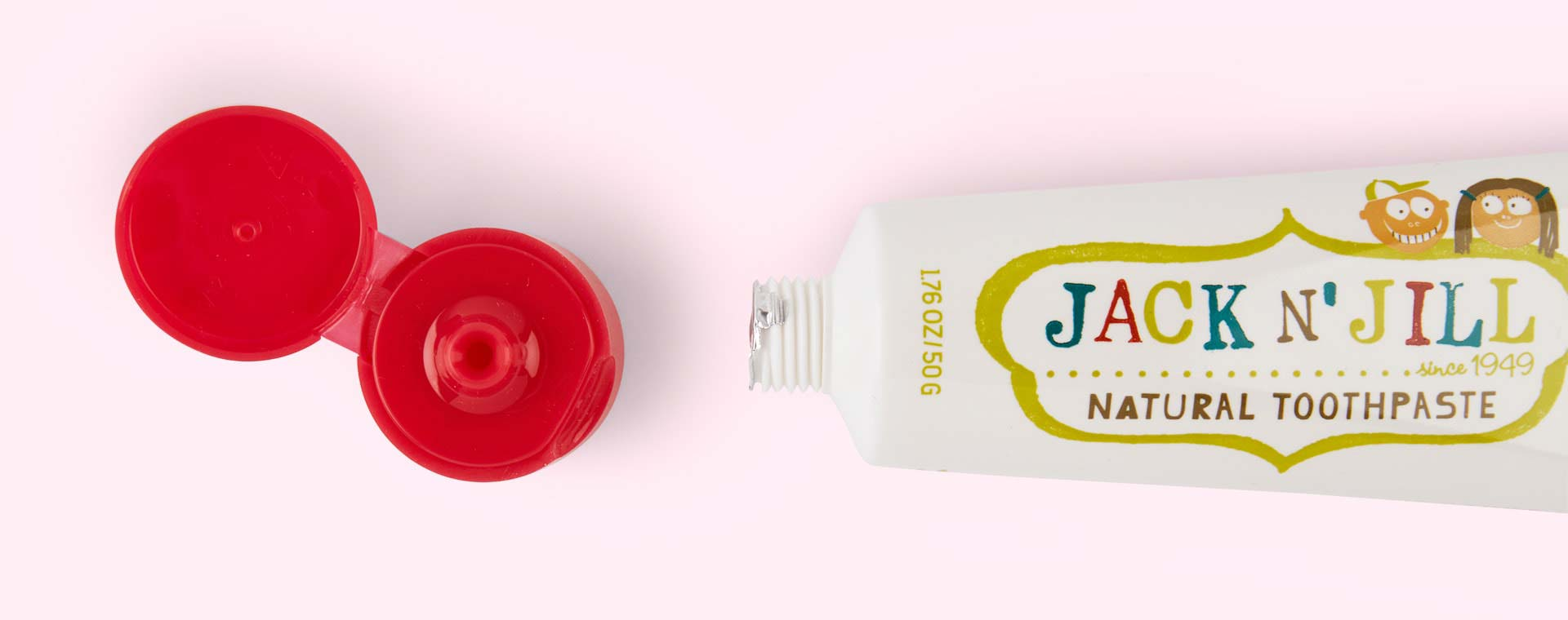 Strawberry JACK N' JILL Organic Flavoured Toothpaste