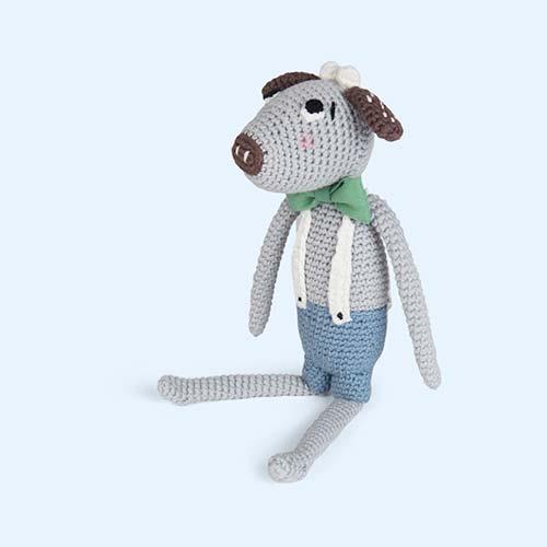 Blue Sebra Carl Crochet Cow Toy