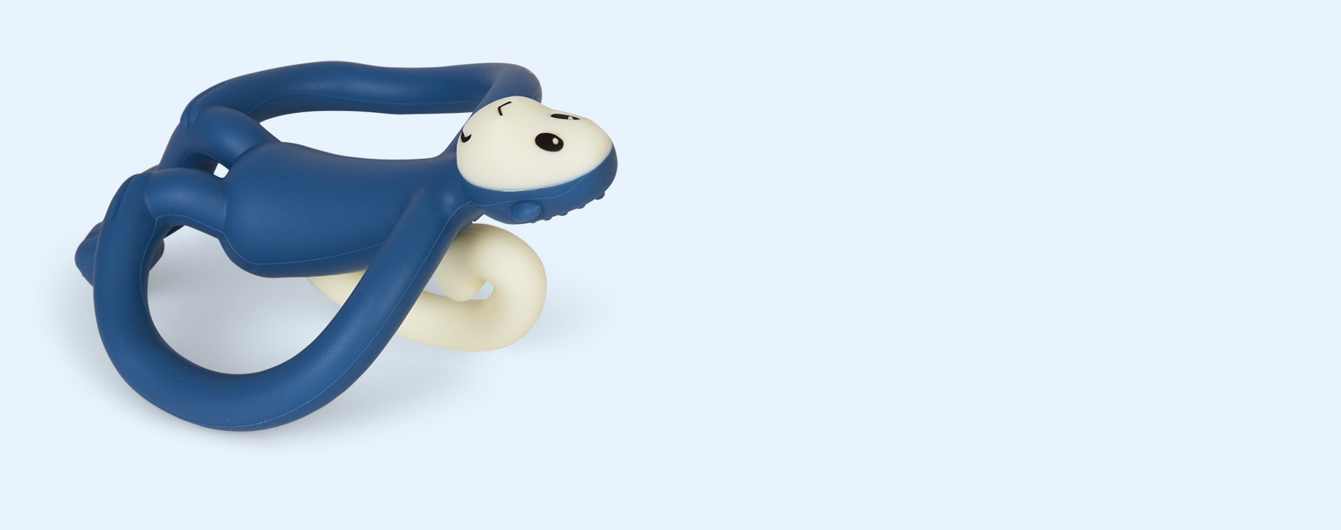 Airforce Blue Matchstick Monkey Monkey Teether