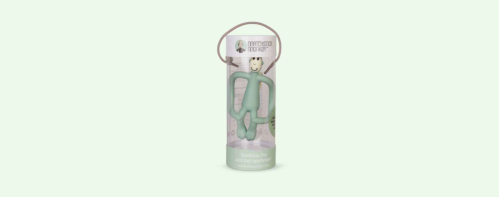 Mint Matchstick Monkey Monkey Teether