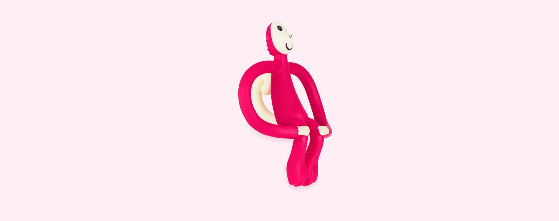 Rubine Red Matchstick Monkey Monkey Teether