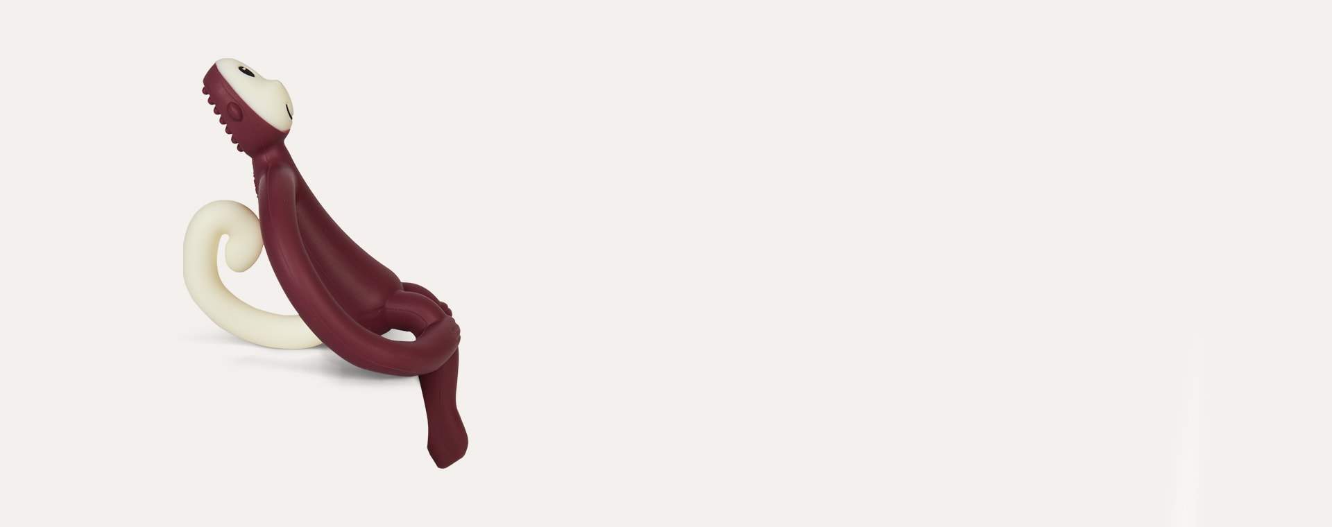 Claret Matchstick Monkey Monkey Teether