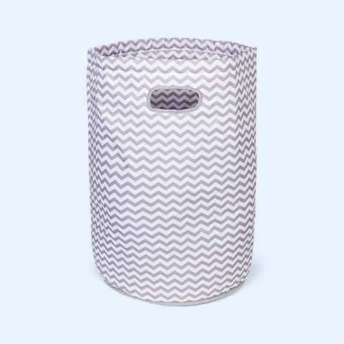 Grey Wave Minene Laundry Basket