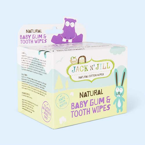 White JACK N' JILL Tooth & Gum Wipes